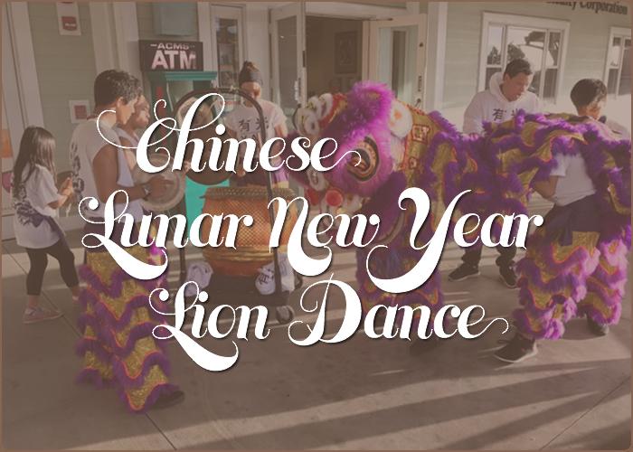 Chinese Lunar New Year Lion Dance scene