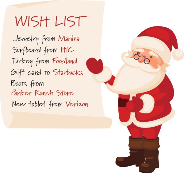 Santa with Wish List