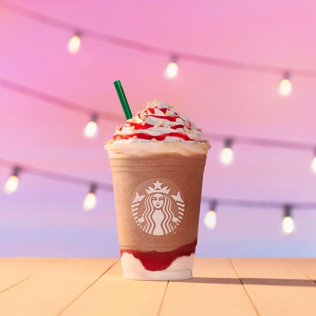 NEW! Strawberry Funnel Cake Frappuccino