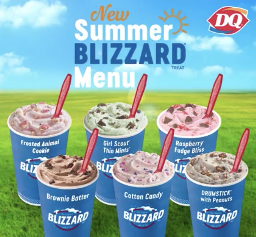 NEW Summer Blizzard Menu