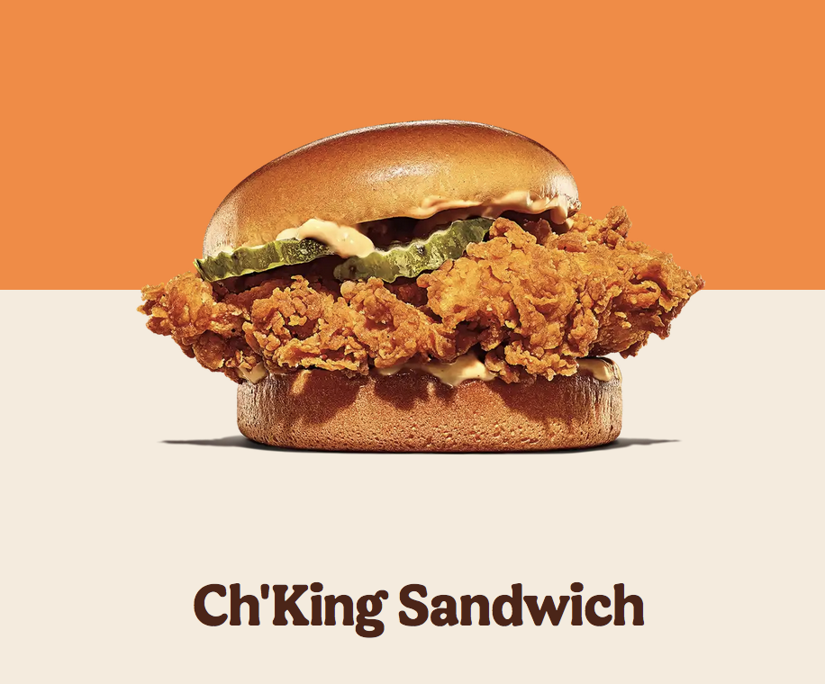 Try Our New Spicy Ch'King Sandwich